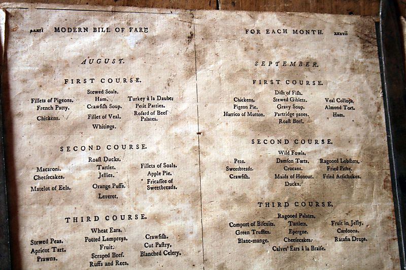 Menu for officers only
