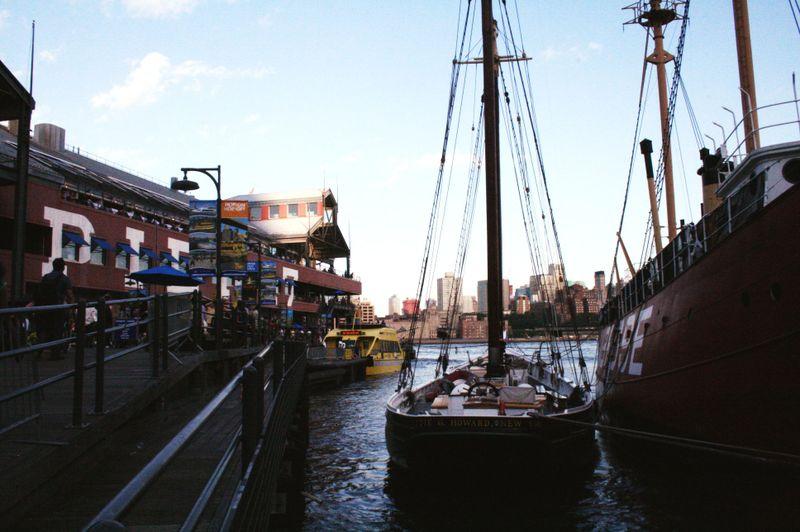 Fulton street sea port market