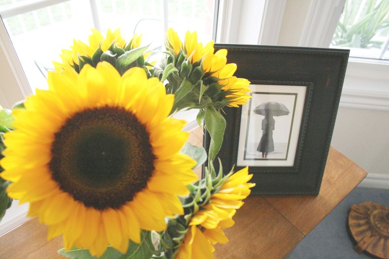 Sunflowers on my table