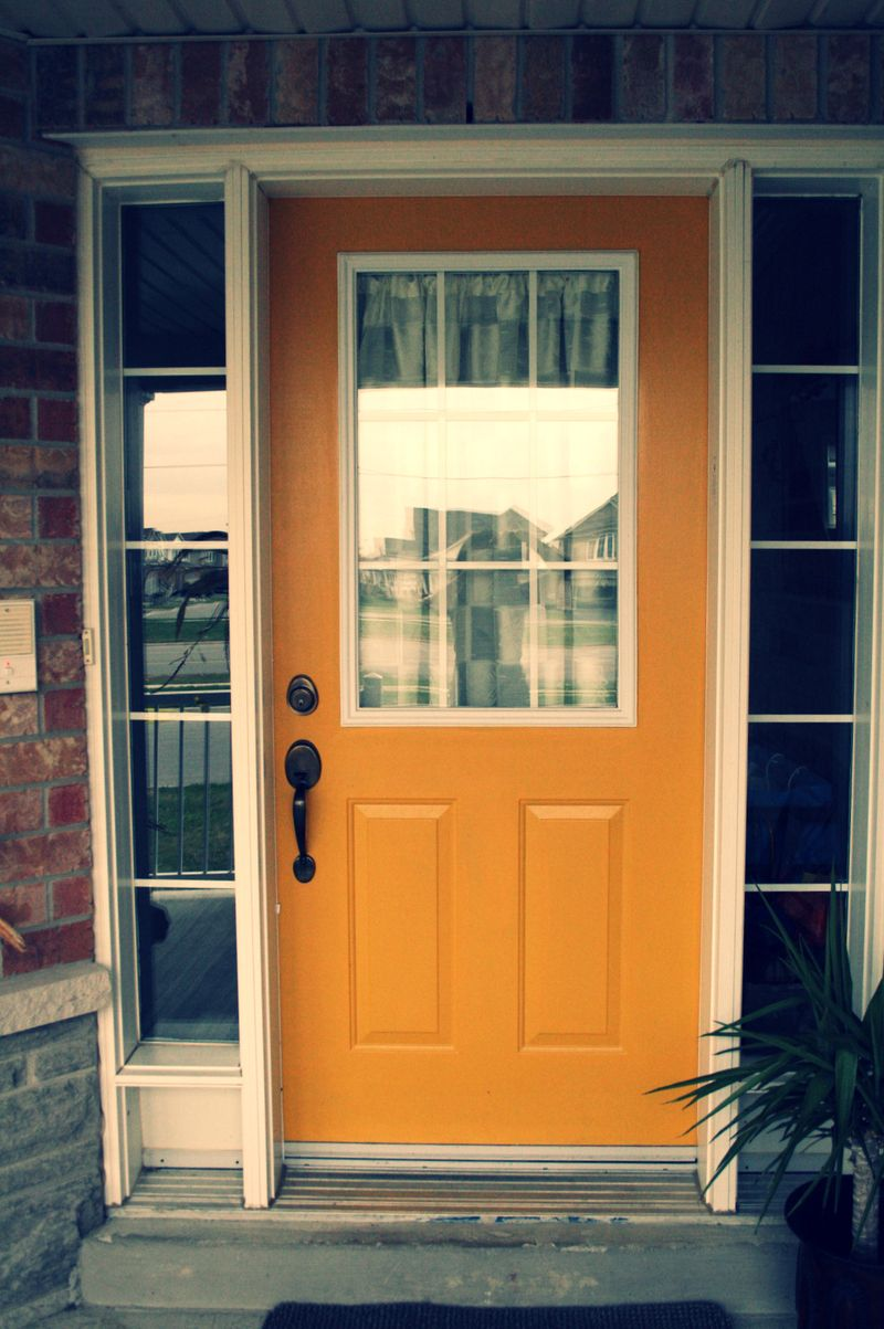 My yellow door