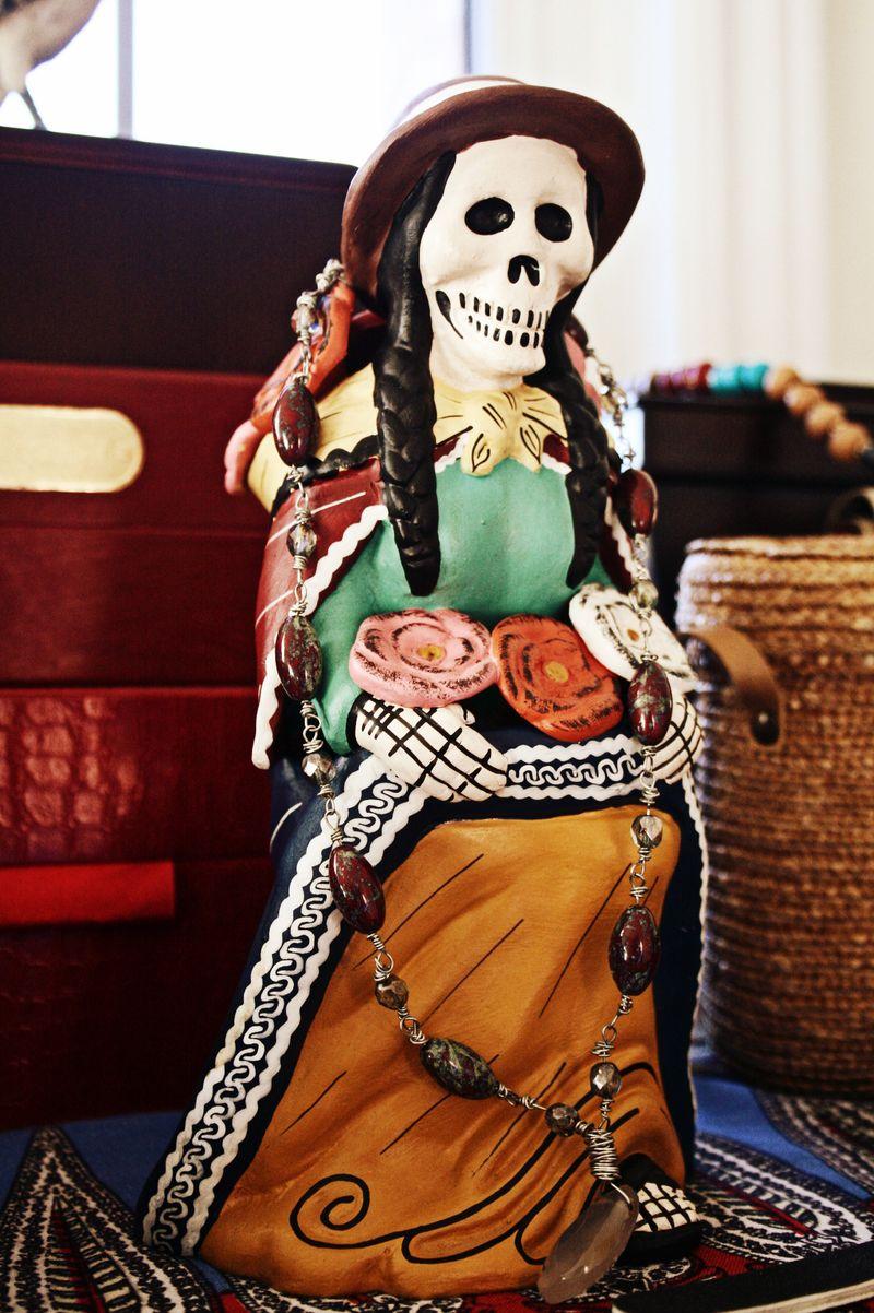 Peruvian catrina figurine