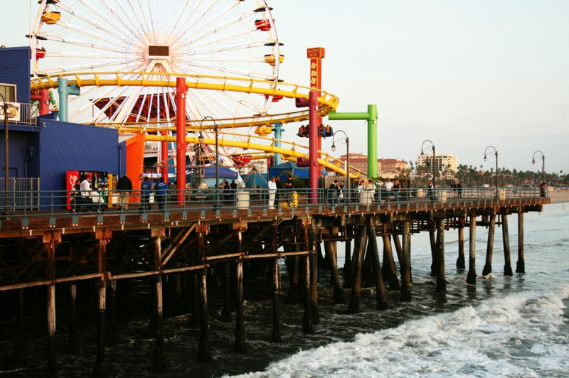 The pier at Santa Monica