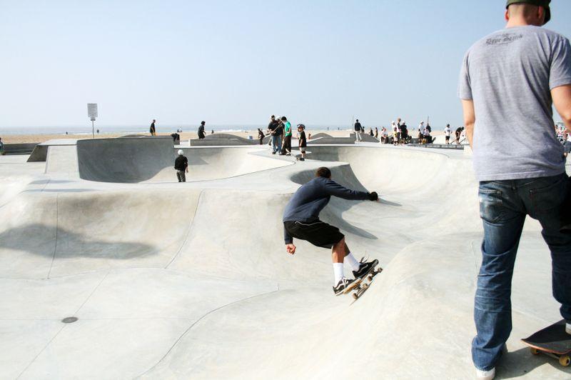 Venice beach skateboarding